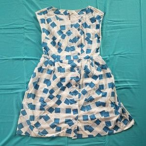 White and blue checkered dress from Modcloth